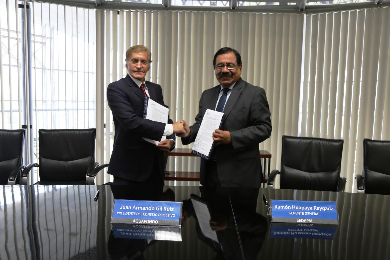 SEDAPAL y AQUAFONDO firman alianza para la recuperación ecológica de ríos Rímac, Chillón y Lurín