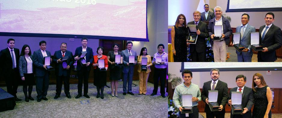 Reconocimiento a instituciones y empresas que trabajaron durante el 2016 en la conservación del agua en Lima y Callao