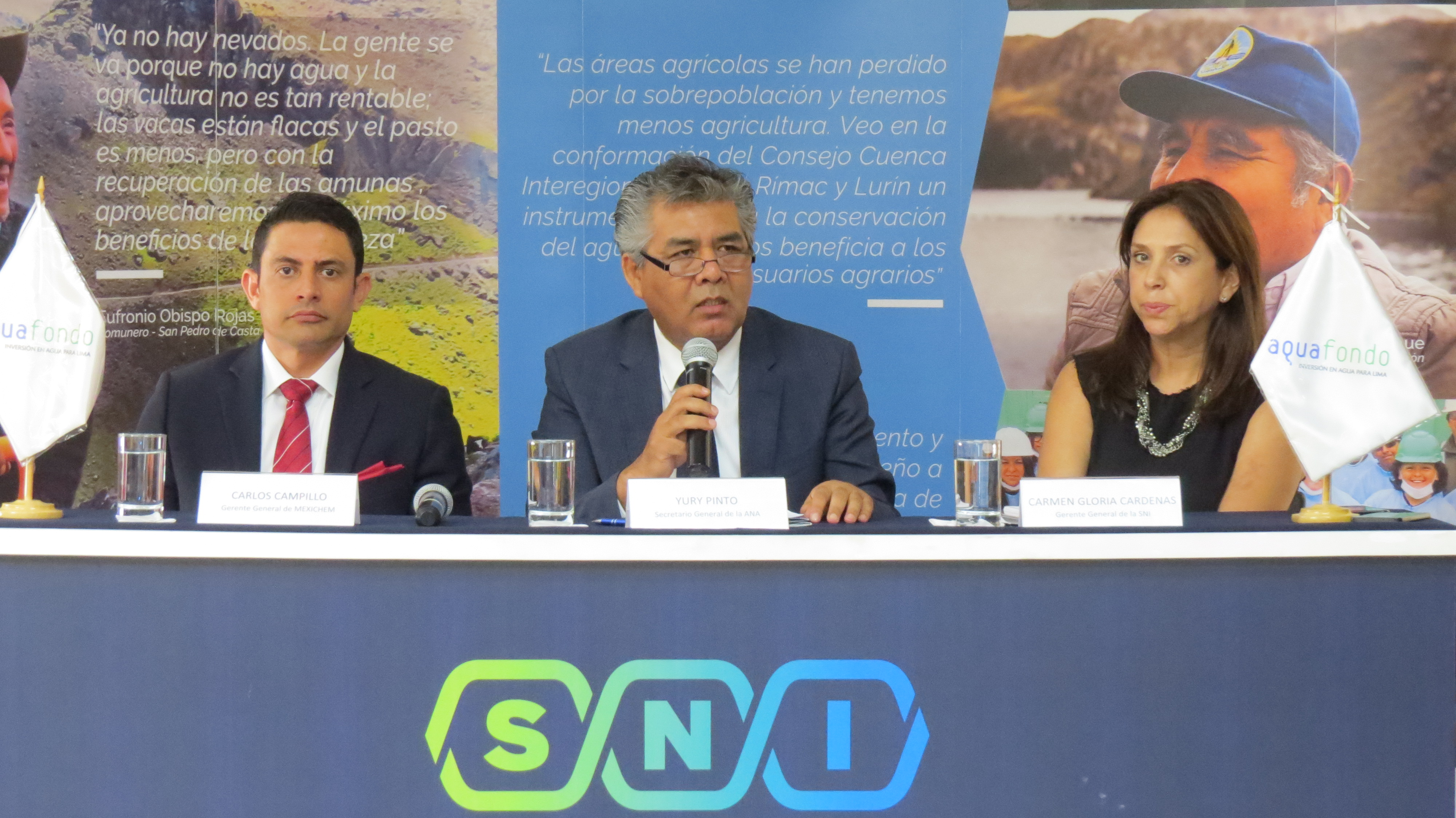 Presentación del impacto económico de una crisis de agua en Lima