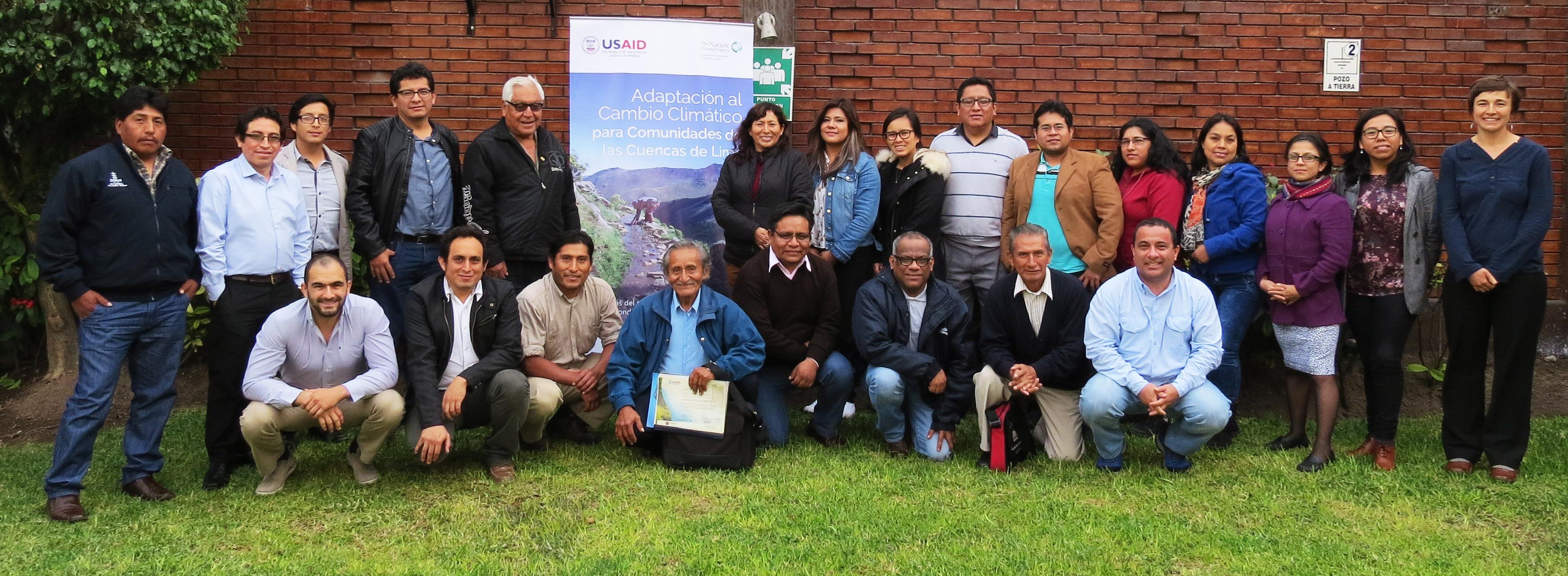 Representantes de Comunidades  reciben capacitación en formulación de PIPs ecosistémicos