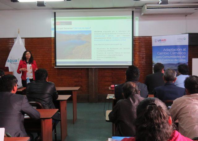 Susana Saldaña, Especialista de la Dirección General de Economía y Financiamiento Ambiental del Ministerio del Ambiente