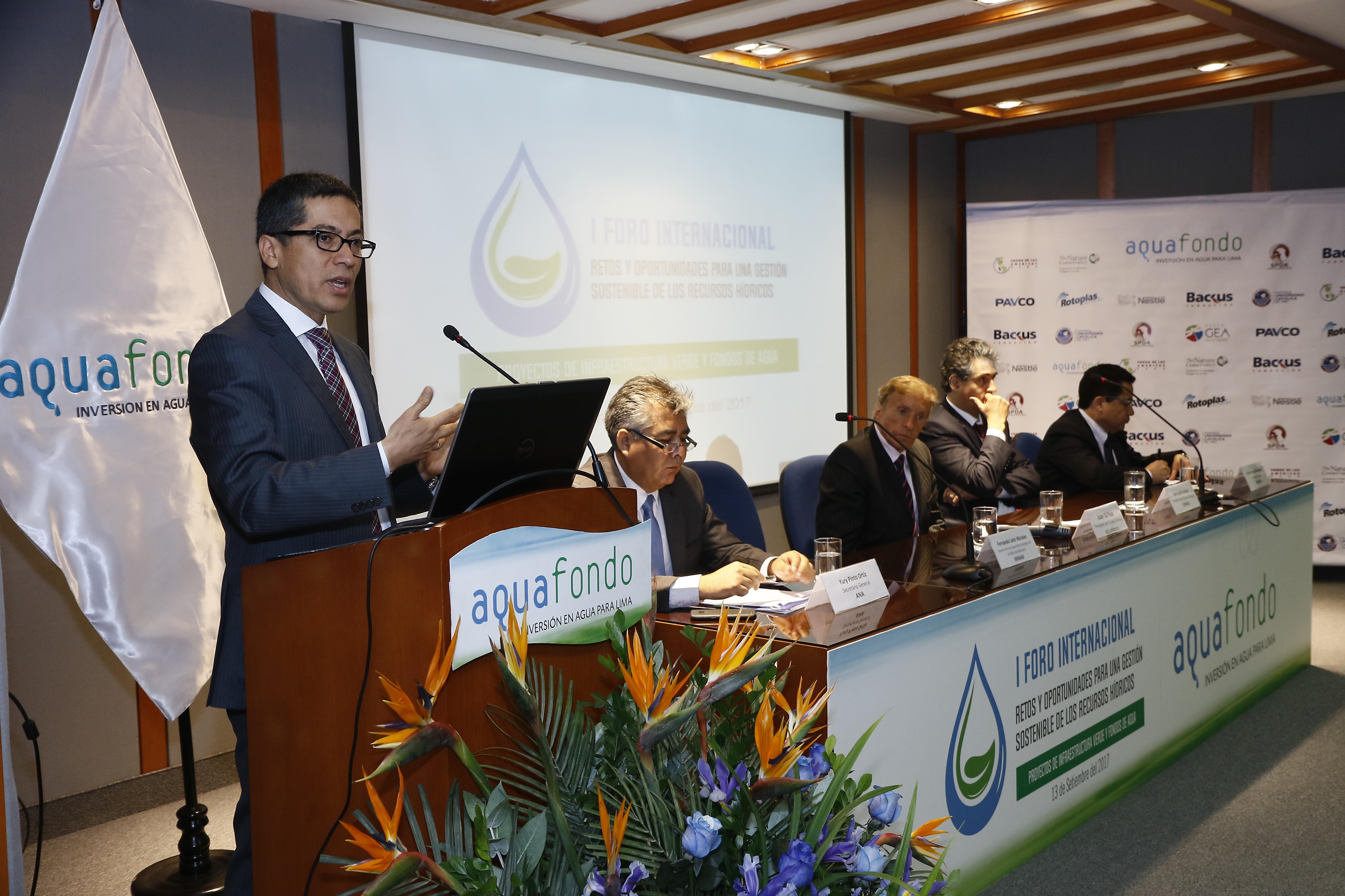 1er #Foro #Internacional Retos y Oportunidades para una Gestión Sostenible de los Recursos Hídricos