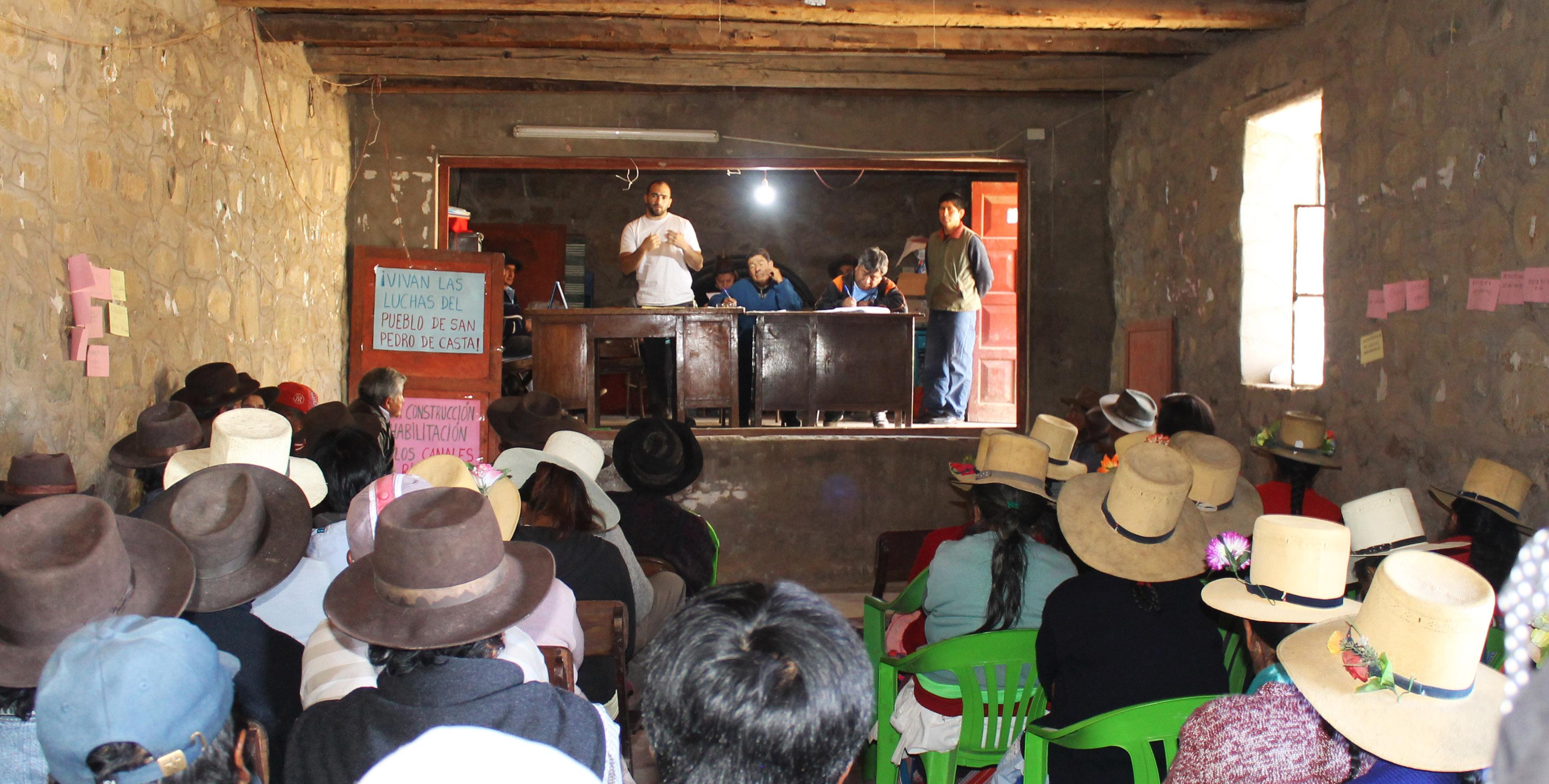 Comunidad de San Pedro de Casta comprometida con el aprovechamiento sostenible del agua