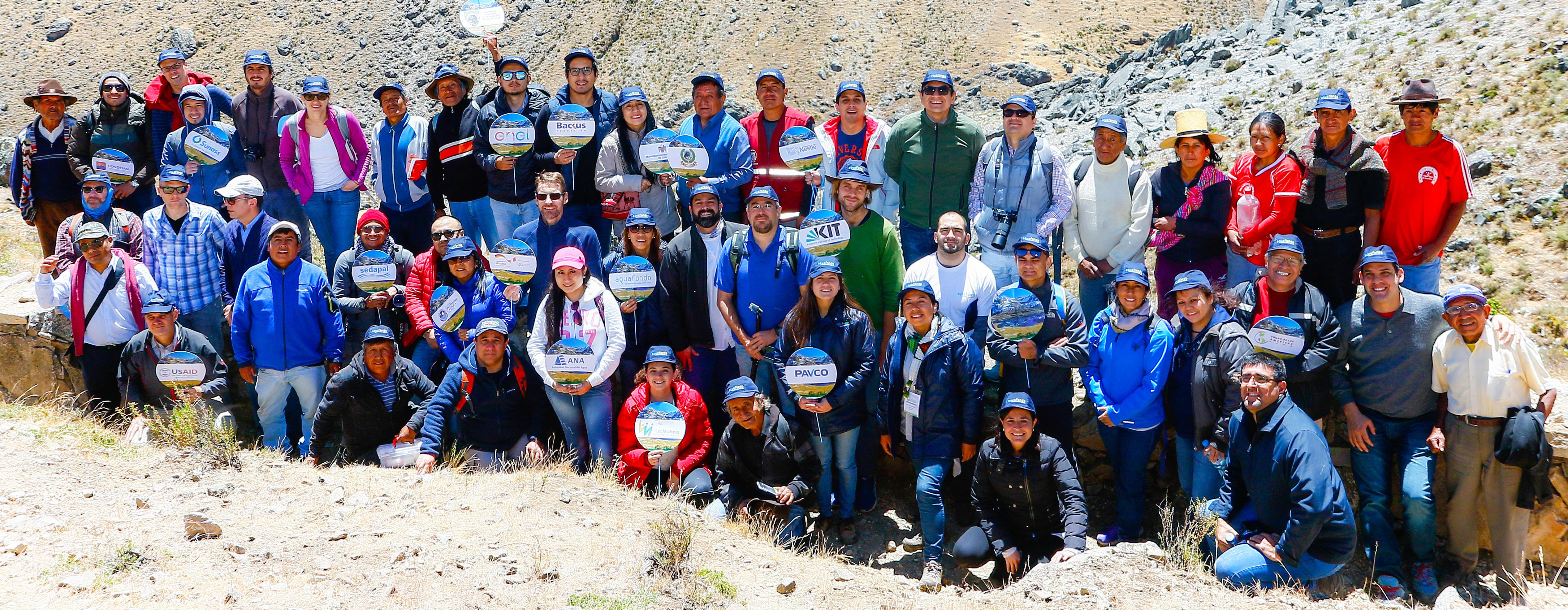 Aliados de AQUAFONDO visitan la Amuna Saywapata en San Pedro de Casta