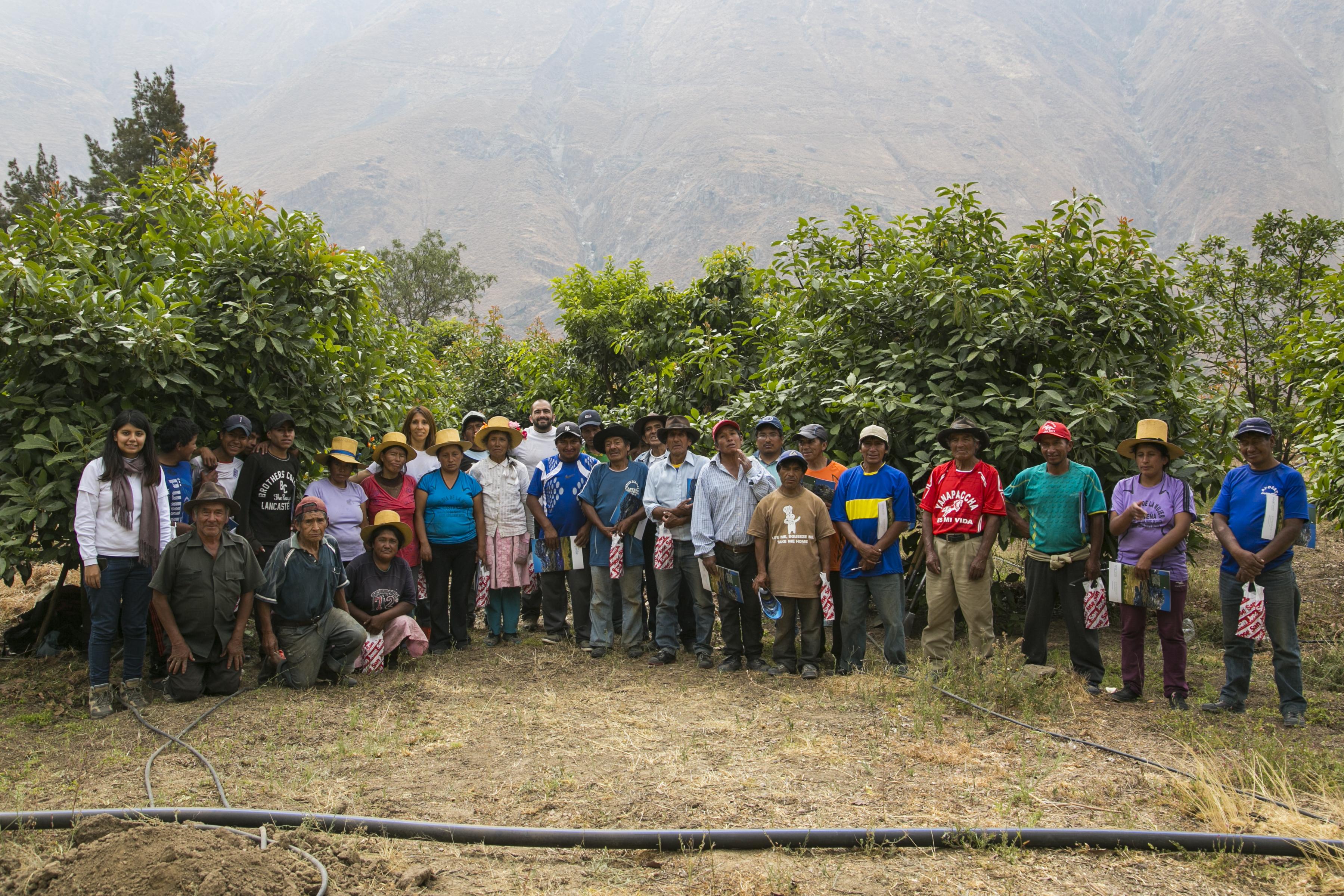 Proceso de capacitación en riego tecnificado a comuneros y comuneras de San Pedro de Casta