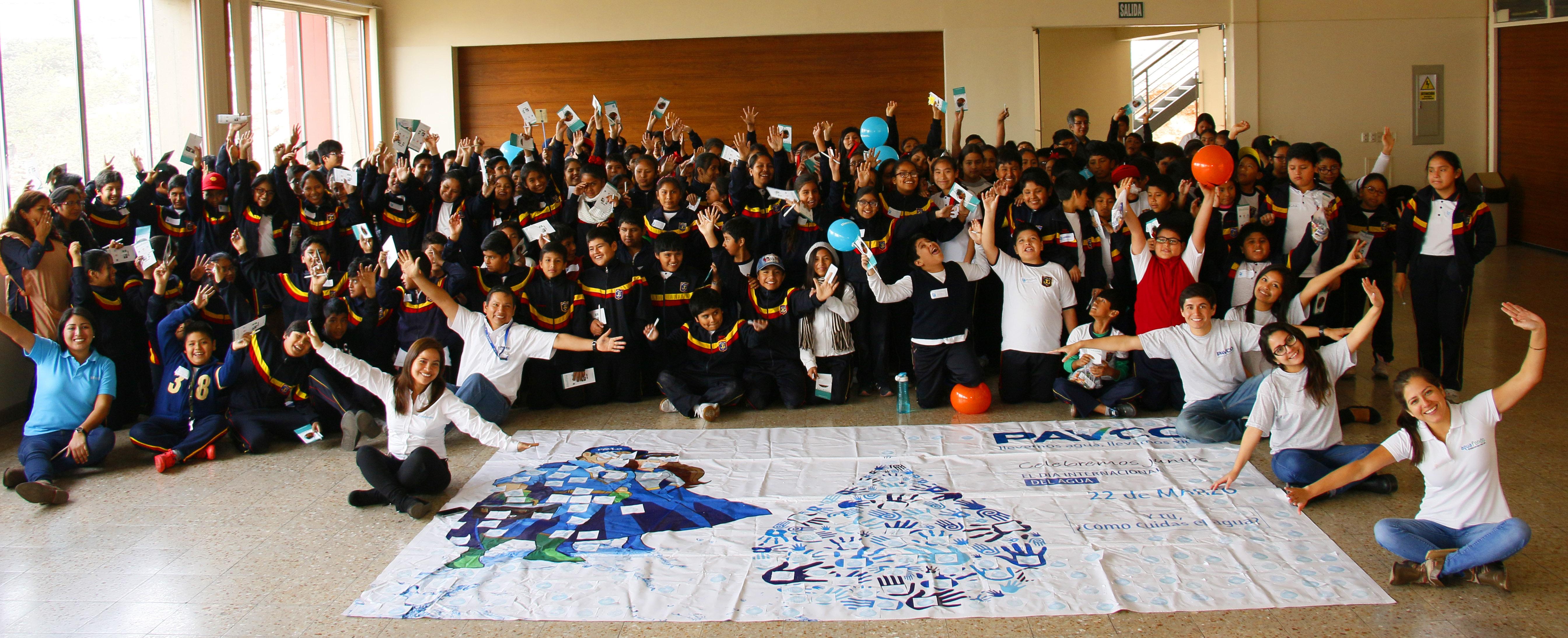 AQUAFONDO y PAVCO promueven la Cultura del Agua a escolares en El Agustino