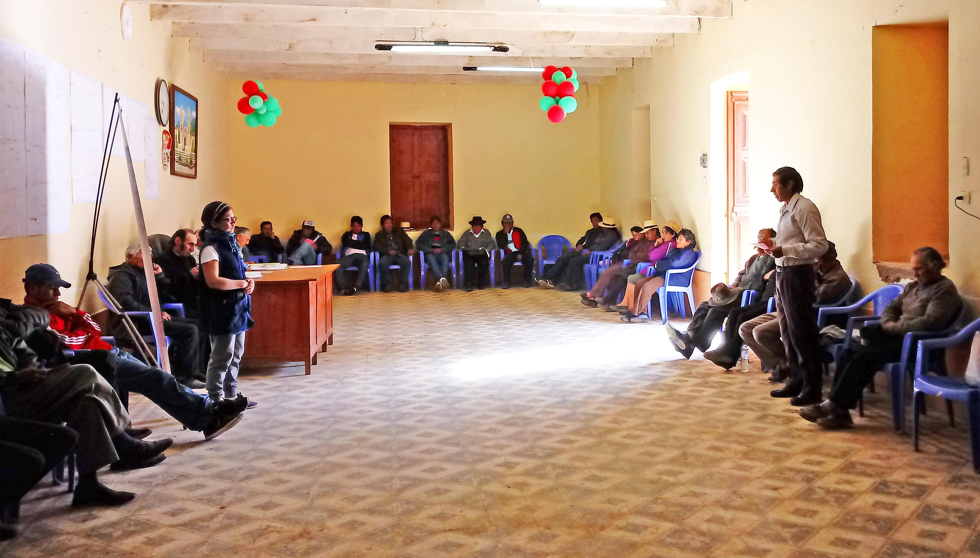 Promoviendo el fortalecimiento de capacidades en prácticas de respuesta ante desastres en Huamantanga