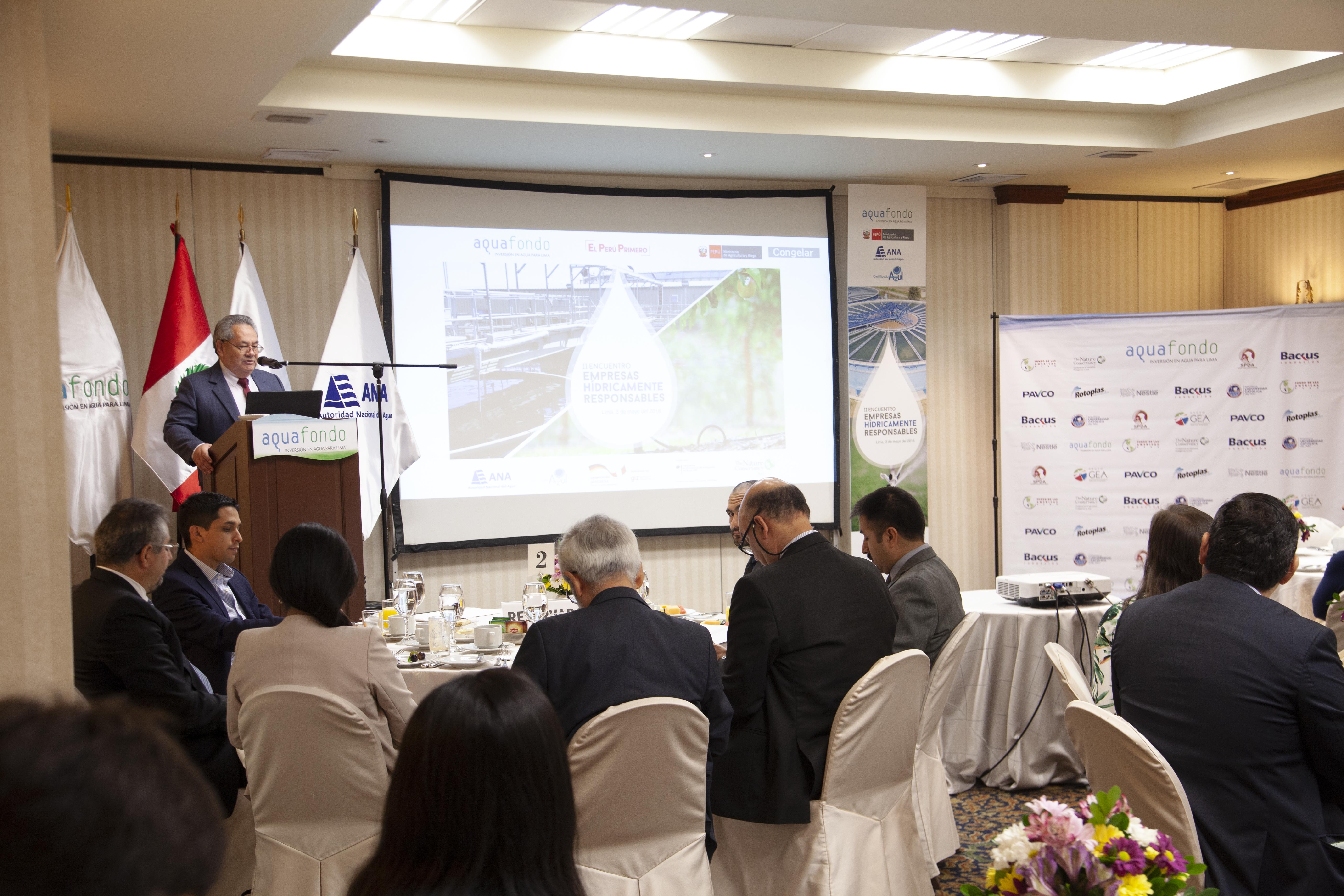 Segundo Encuentro de Empresas Hídricamente Responsables expuso casos exitosos y replicables de gestión eficiente del agua