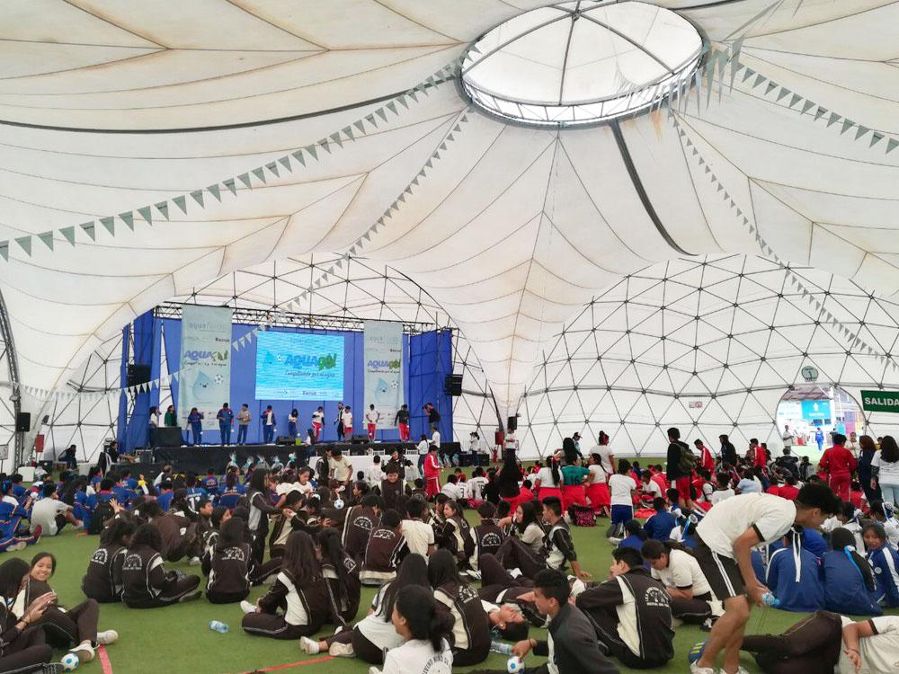 Escolares de Lima Metropolitana se comprometen por el agua durante el Concurso Interescolar AQUAGOL