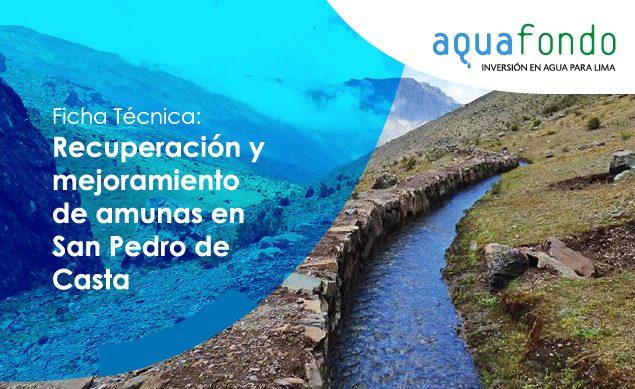Ficha técnica: Recuperación y mejoramiento de amunas en San Pedro de Casta