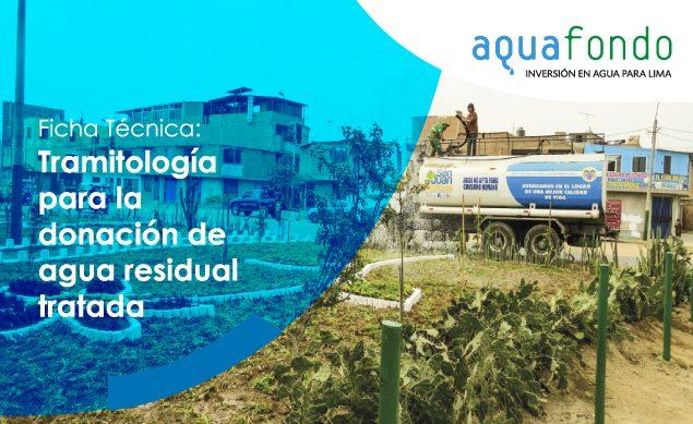 Ficha técnica: Tramitología para la donación de agua residual tratada